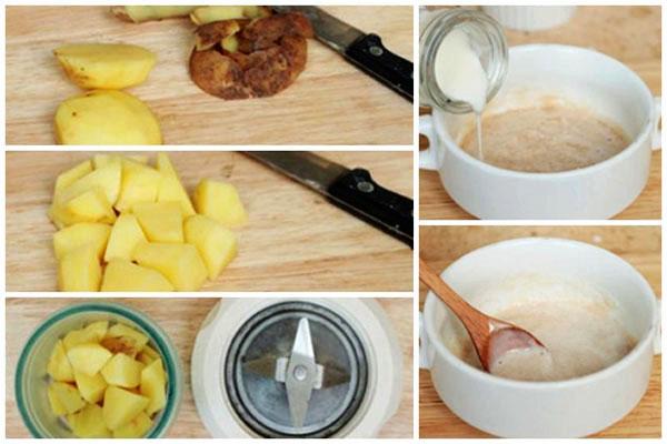 Mặt nạ khoai tây - Cách làm mặt nạ khoai tây