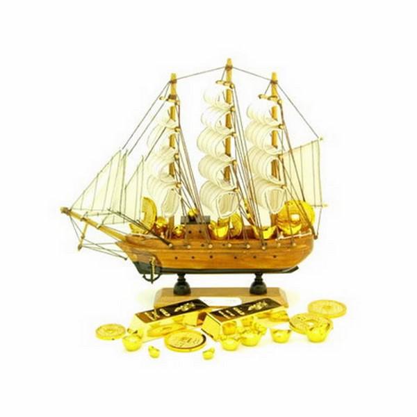 Thuyền chở vàng-Vật phẩm phong thủy trên bàn làm việc