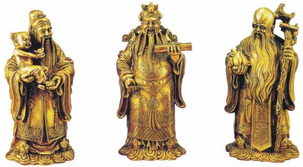 Tam tinh Phúc Lộc Thọ-Vật phẩm phong thủy trên bàn làm việc