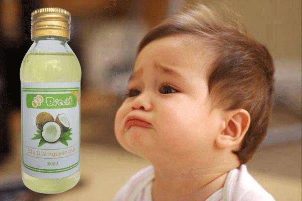 Dầu dừa rất tốt đối với trẻ sơ sinh