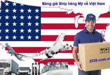 Cách tính tiền ship hàng từ mỹ về việt nam